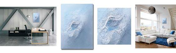 Acrylbilder mit Seidenfäden auf http://www.slavova-art.at
