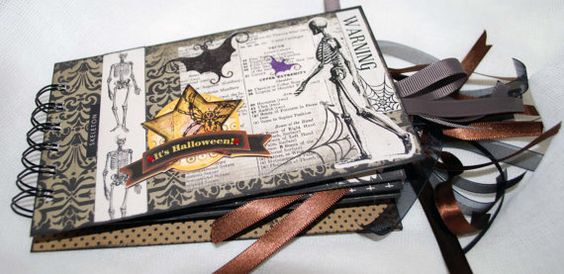 Halloween Tag Envelope Album by RavensCards on Etsy