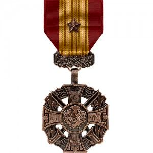 The republic of vietnam gallantry cross medal with bronze for Air force decoration citation