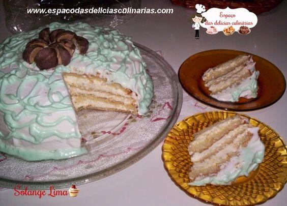 Bolo Mousse de Limão, incluídas fotos com passo a passo (que não tinha) - Espaço das delícias culinárias