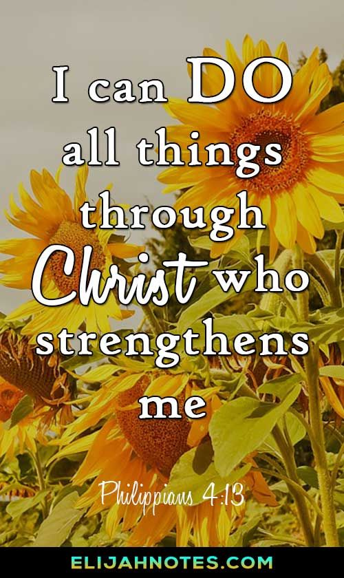 Yes, you can do all things in Christ. Bible Verses About Perseverance | Faith | Christian | Inspirational Quotes | Christian Quotes | Bible Quotes | Jesus | Christianity | Scripture | Hard Times. #perseverance #hope #bible #verse #faith #christian #motivation #wordstoliveby #words #quoteoftheday #bibleverse #biblequote #jesus #jesuschrist #hardtimes #mondayinspiration #monday