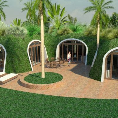 Home hobbit home and hobbit on pinterest for Prefabricated underground homes