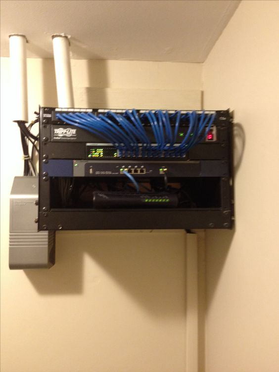 Home Network Rack Internet Backbone Wiring Computer