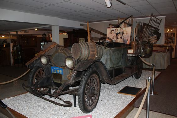 """Ralph Foster Museum"" near Branson, Missouri --.  The Clampett family car. A 1921 Model 46 Roadster Oldsmobile, this sweet ride came complete with hand made ""improvements""."