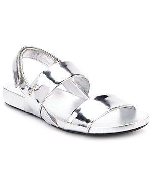 Prada Metallic Patent Sandal