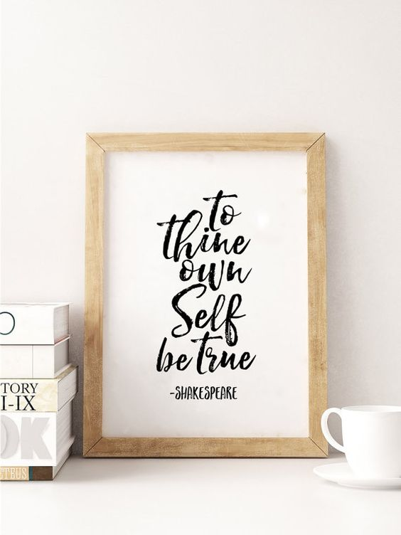SHAKESPEARE GIFTSTo Tine Own Self Be TrueNursery by TypoHouse