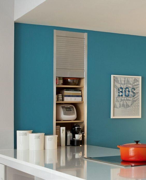 Laranja e azul na cozinha de novo! ;-D