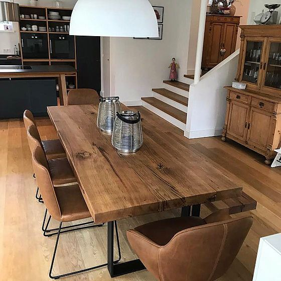 Dining Tables Made Of Oak Wood From Holwerk Hamburg Holztisch
