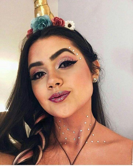 4 lindas maquiagens de Carnaval para você se inspirar - unicórnio