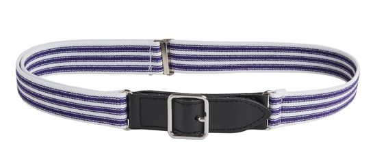 Kids Elastic Adjustable Leather Front Stretch Ticking Striped Belt with Velcro Closure