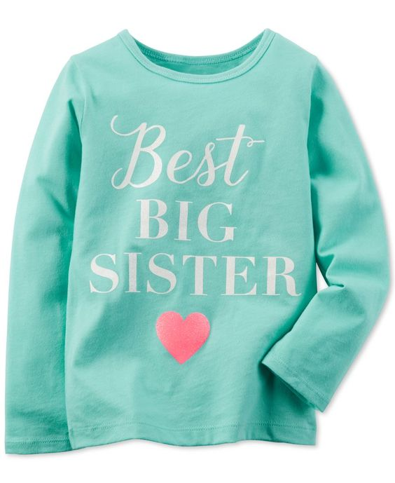 Carter 39 s little girls 39 best big sister t shirt aubrisway for Best shirts for girls