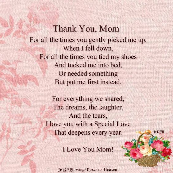 Thank You Mom, I Miss You. Xox ♡