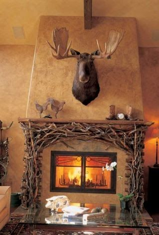 Moose Mantels And Love The On Pinterest