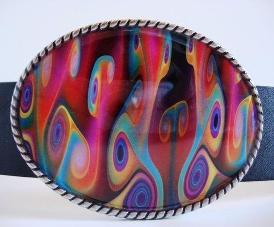Jada Belt Buckle  Passion  Oval Wearable Art by MnMTreasures, $20.00
