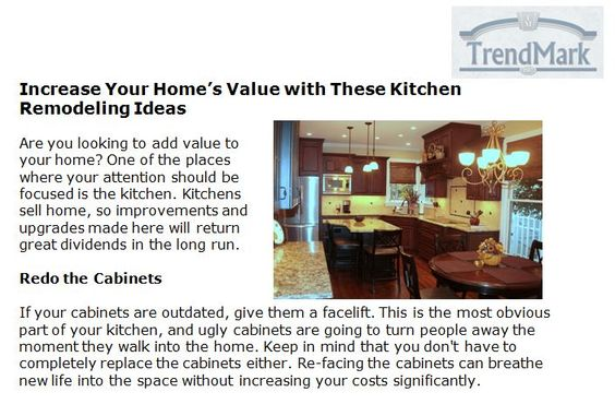 Http://www.trendmarkinc.com/increase Your Homes Value With These Kitchen  Remodeling Ideas   Kitchens Sell Home, So Improvements And Upgrades Made U2026