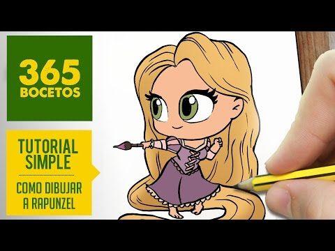 COMO DIBUJAR A RAPUNZEL  Dibujar princesas disney en español , Dibujos Kawaii faciles , YouTube