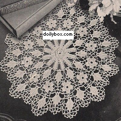 Irish Doilies Crochet Free Patterns : Free Crochet Irish Rose Doily Pattern Crochet ...