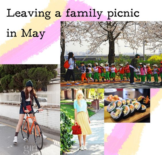 Leaving a family picnic in May. - le bon