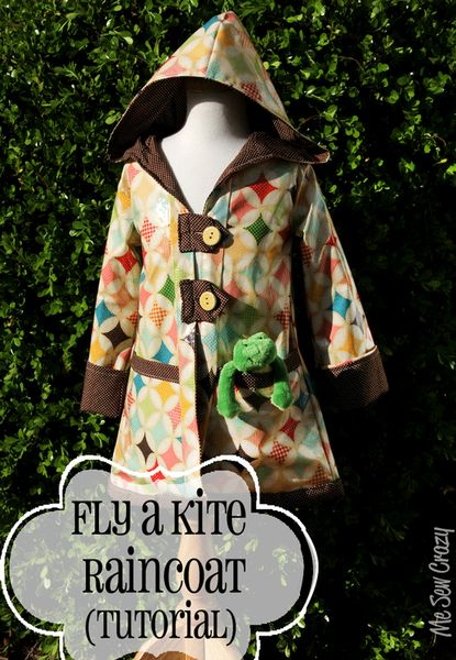 Fly a Kite Raincoat tutorial by MeSewCrazy for Riley Blake Designs http://www.wheretogotonight.com/