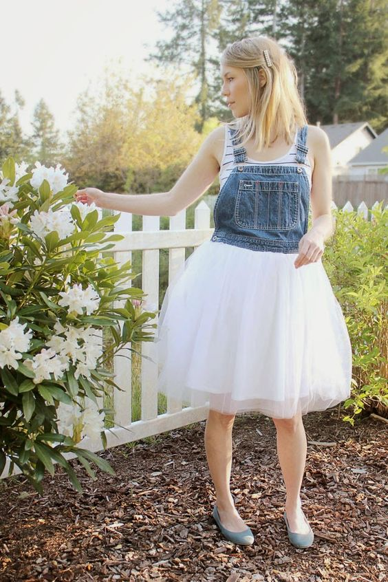 Wear The Canvas: Tulle Overalls DIY
