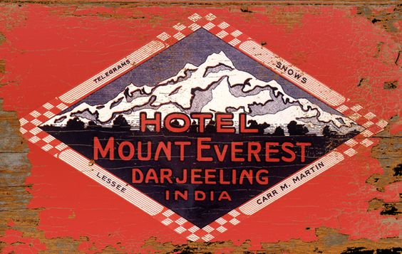 Hotel Mount Everest Darjeeling India Wood Art Sign