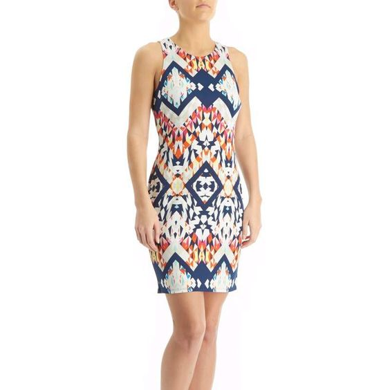 Tribal Print Bodycon Dress - Jr.