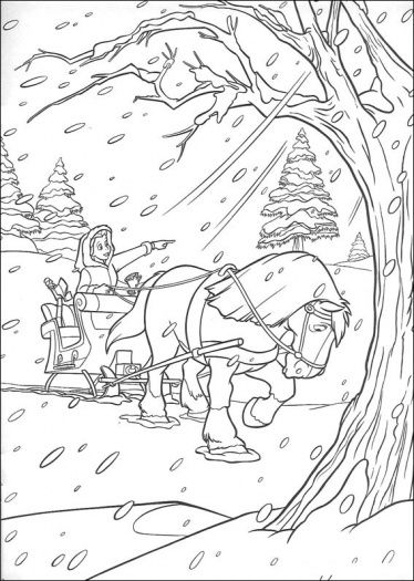 Coloring Pages Winter Wonderland Coloring Pages