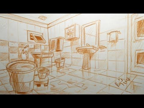 Nata You Are Sitting Inside The Bathroom And Having Your Bath Solution Youtube Perspective Drawing Architecture Architecture Drawing Drawings