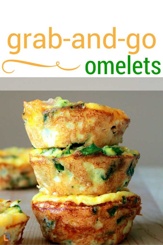 Easy Grab and Go Omelets! | Bottom line Personal #nutrition #bottomlineinc #recipes