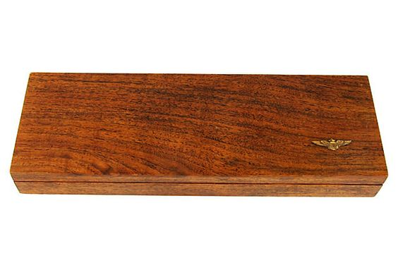 Flat Wood Box for Military Medals by Ruby + George on @One Kings Lane