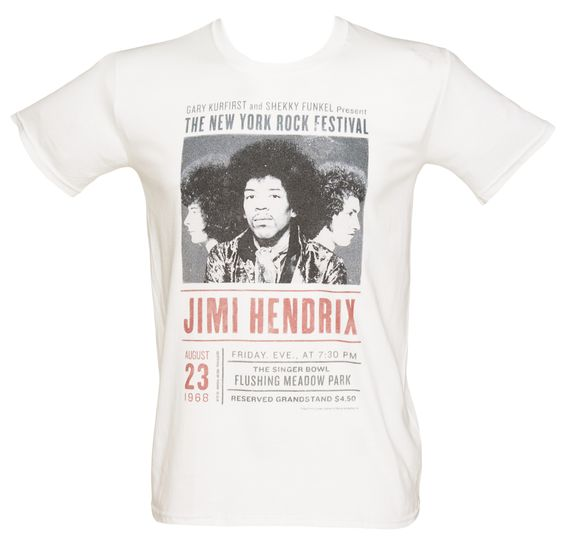 Mens Jimi Hendrix Experience NY Rock T-Shirt We love the vintage feel of this awesome new tee featuring the legendary Jimi Hendrix in a distressed poster print! Any lover of guitar riffs and bluesy tones will absolutely adore this groovy tee! http://www.comparestoreprices.co.uk/t-shirts/mens-jimi-hendrix-experience-ny-rock-t-shirt.asp