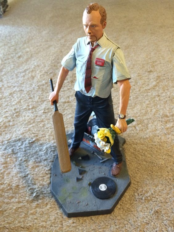 "Shaun of the Dead 12"" talking figure."