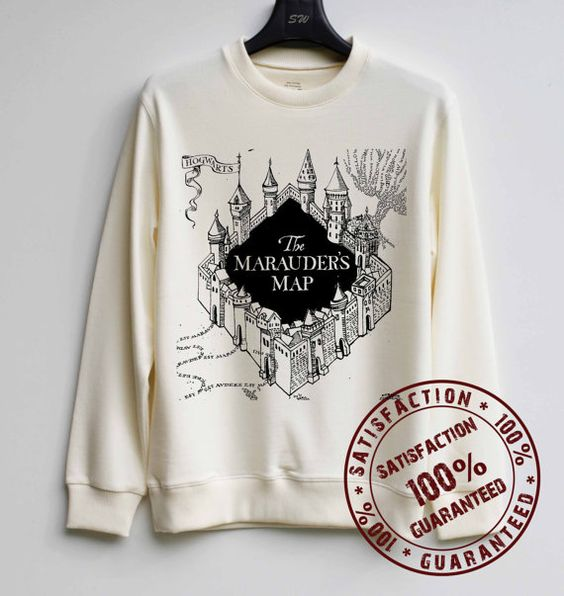 Marauder's Map Shirt Harry Potter Sweatshirt Sweater Hoodie Shirt – Size XS S M L XL - $29.99: