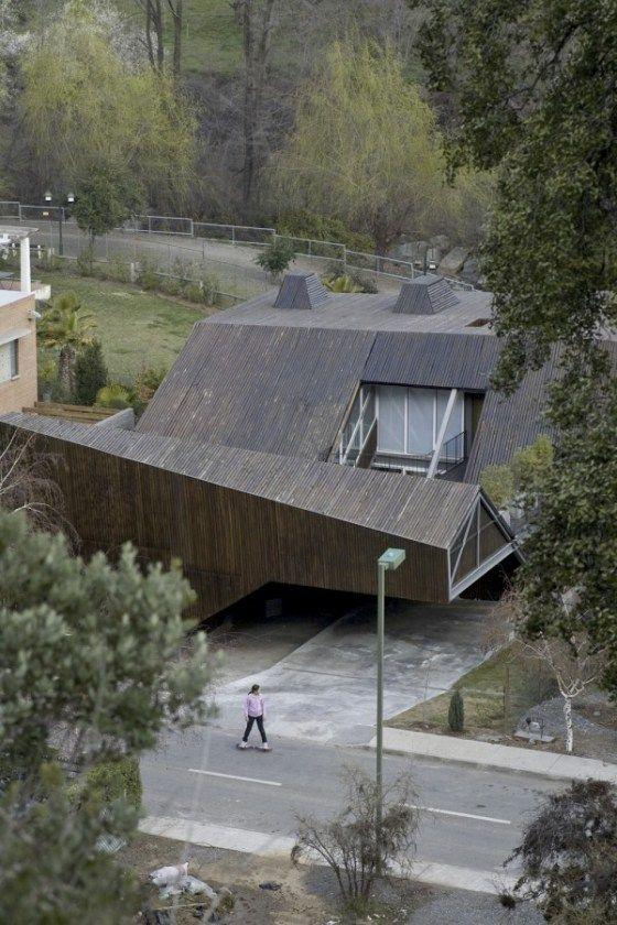undulating timber roof
