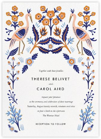Heron Heralds Invitation Paperless Post FEMININE DESIGN Pinterest F