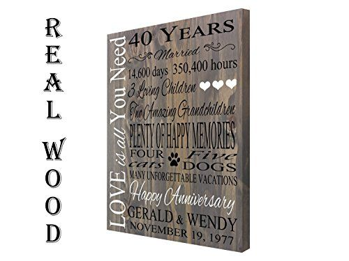 Personalized Anniversary Gift 5th 10th 20th 30th Anniver Https Www Amazon Com Dp B07 Personalized Anniversary Gifts Custom Family Signs Anniversary Gifts