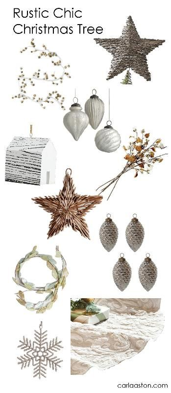 Christmas Tree Decorations for a Rustic Chic Look / xmas decorations, Christmas ornaments