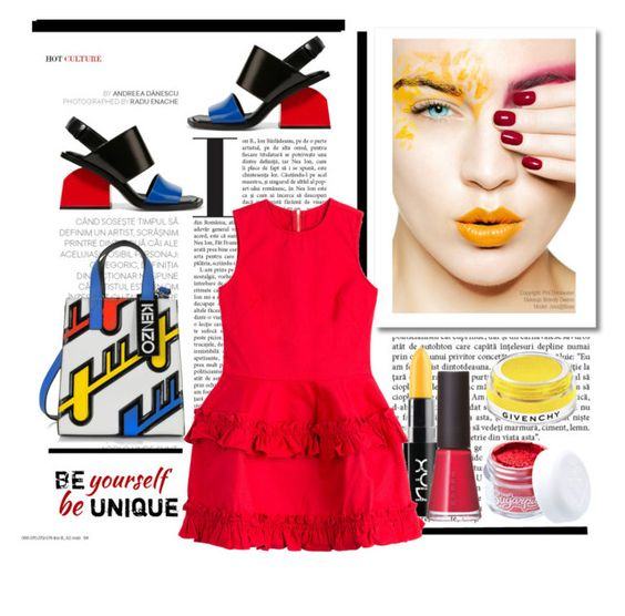 """Be Yourself. .. Be Unique"" by conch-lady ❤ liked on Polyvore featuring Kenzo, Marni, NYX, J Brand, SUQQU, Givenchy and Sugarpill"