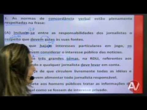 Professora Fabrícia de Sousa - Língua Portuguesa - Concordância (Questõe...