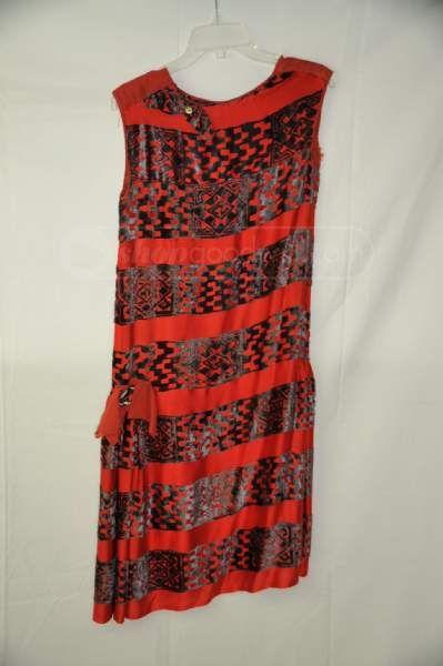 shopgoodwill.com: Vintage 1920's red velvet drop waist dress