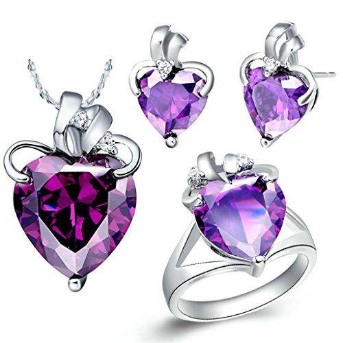 Virgin Shine Platinum Plated Rhinestone Heart Stem Jewelry Sets Purple VIRGIN SHINE http://www.amazon.com/dp/B00KWGBWHW/ref=cm_sw_r_pi_dp_ulDKub17NWV9T