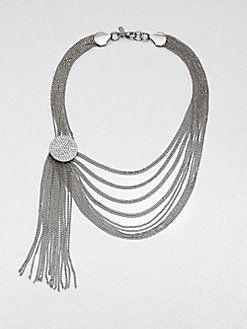 ABS by Allen Schwartz Jewelry - Multi-Row Link Chain Tassel #Necklace @Saks Fifth Avenue