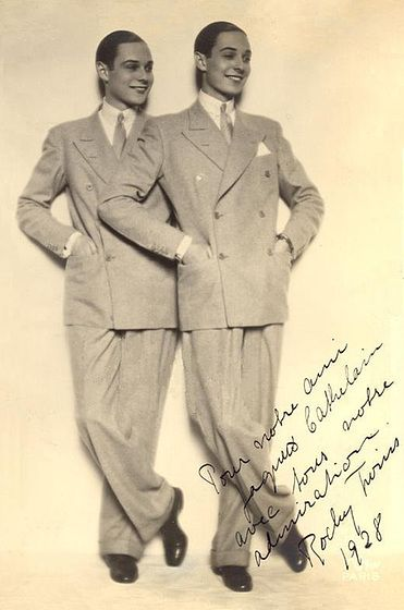 The Rocky Twins - Leif and Paal Roschberg born February 27, 1909. Paal died in 1954, Leif in 1967.: