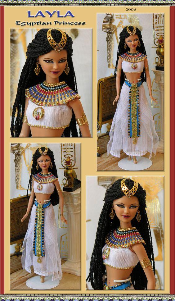 egyptian princess layla barbie repaint