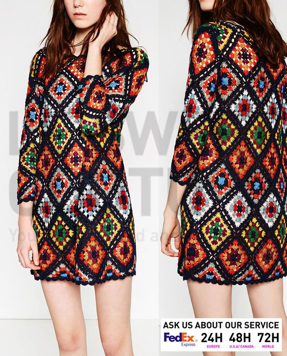 ZARA WOMEN SS16 PATCHWORK MINI CROCHET DRESS Ref. 9598/007 | eBay