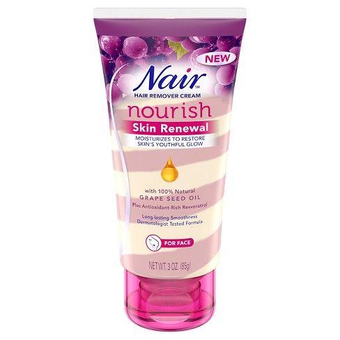 Nair Skin Renewal Grape Seed Oil Hair Removal Cream For Face 3oz Target Hair Removal Cream Facial Hair Removal Cream Hair Removal