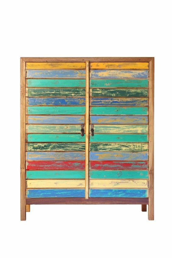 armoire 2 portes en bois de bateaux de java recycl 2. Black Bedroom Furniture Sets. Home Design Ideas