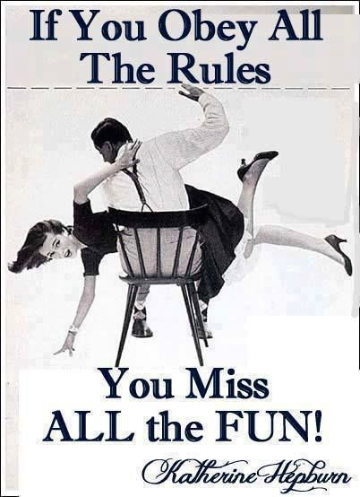 katherine hepburn - so I love Katherine Hepburn and I love this quote, and then I saw it with this image, and I love the message.  Do bad things so men in suits will spank you, I'm assuming he's attractive.  I like this message.  Room poster?: