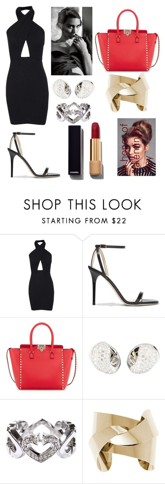 """Darling you are gorgeous"" by polysetter-862 ❤ liked on Polyvore featuring Jimmy Choo, Valentino, Cartier, Chanel, women's clothing, women, female, woman, misses and juniors"