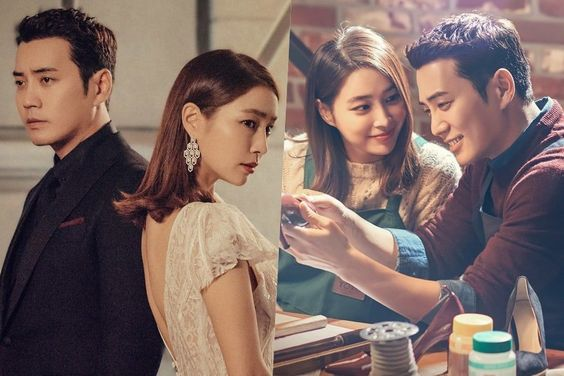 "Lee Min Jung And Joo Sang Wook Are Distant But Romantic In New ""Fates And Furies"" Posters"